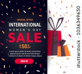 international women's day... | Shutterstock .eps vector #1036349650