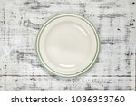 a white plate. an object. clean.... | Shutterstock . vector #1036353760