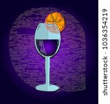 vector glass. drink in a glass. | Shutterstock .eps vector #1036354219