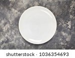 a white plate. an object. clean.... | Shutterstock . vector #1036354693