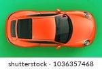 orange porsche 911 three... | Shutterstock . vector #1036357468
