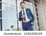handsome male model posing... | Shutterstock . vector #1036358149