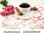 a cup of coffee  cinnamon ... | Shutterstock . vector #1036358434
