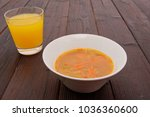 vegetable soup with lentils and ... | Shutterstock . vector #1036360600