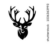 Modern Deer Head Illustration...