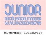 set of cartoon style alphabet... | Shutterstock .eps vector #1036369894