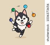 cute cartoon character design...   Shutterstock .eps vector #1036373656