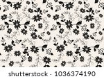 vector seamless dry floral...   Shutterstock .eps vector #1036374190