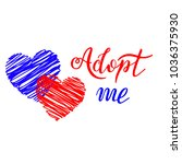 hand drawn adopt me lettering... | Shutterstock .eps vector #1036375930