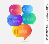 infographics design with speech ... | Shutterstock .eps vector #1036385848