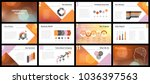 business presentation templates.... | Shutterstock .eps vector #1036397563