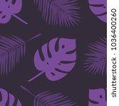 hand drawn summer seamless... | Shutterstock .eps vector #1036400260