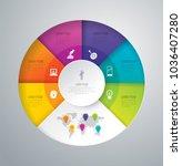 infographics design vector and...   Shutterstock .eps vector #1036407280
