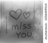 text miss you and hearts symbol ...   Shutterstock .eps vector #1036409014