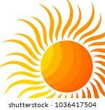 the sun. vector illustration | Shutterstock .eps vector #1036417504