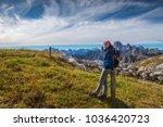 pretty young woman in italien... | Shutterstock . vector #1036420723