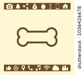 bone icon symbol | Shutterstock .eps vector #1036426678