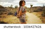 Cute African Woman Hiking...