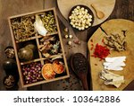 chinese herbal medicine and... | Shutterstock . vector #103642886