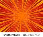 superhero comic book poster...   Shutterstock .eps vector #1036433710