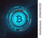 abstract technology bitcoin...   Shutterstock .eps vector #1036434220