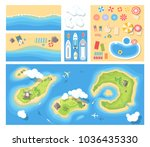 beach holiday   modern vector... | Shutterstock .eps vector #1036435330