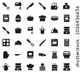 flat vector icon set   pan... | Shutterstock .eps vector #1036436656