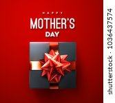 happy mothers day. black gift... | Shutterstock .eps vector #1036437574