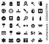flat vector icon set   scraper... | Shutterstock .eps vector #1036437994