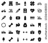 flat vector icon set   double... | Shutterstock .eps vector #1036438003