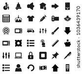 flat vector icon set  ... | Shutterstock .eps vector #1036439170