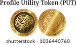 set of physical golden coin...   Shutterstock .eps vector #1036440760