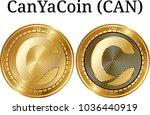 set of physical golden coin...   Shutterstock .eps vector #1036440919