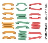 set of colored ribbons | Shutterstock .eps vector #1036444438