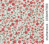 seamless pattern with little... | Shutterstock .eps vector #1036447003
