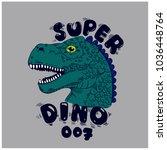 dinosaur vector print. funny t ... | Shutterstock .eps vector #1036448764