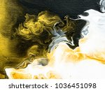 abstract hand painted black and ... | Shutterstock . vector #1036451098