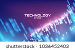virtual cyberspace tehcnology... | Shutterstock .eps vector #1036452403