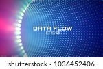 data flow tunnel. geometric... | Shutterstock .eps vector #1036452406