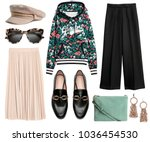 a set of fashionable clothes... | Shutterstock . vector #1036454530