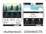 website template contact box | Shutterstock .eps vector #1036460170