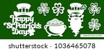 set of decoration for st.... | Shutterstock .eps vector #1036465078