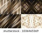 set of abstract dark gold... | Shutterstock . vector #1036465369