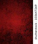 Red Grunge Seamless Ornamental...