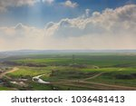 wide panorama of spring desert...   Shutterstock . vector #1036481413