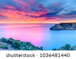 beautiful dawn at the... | Shutterstock . vector #1036481440