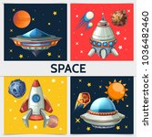 colorful space square... | Shutterstock .eps vector #1036482460