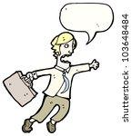 cartoon man late for work | Shutterstock . vector #103648484