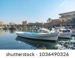 tyre harbour in tyre lebanon 3... | Shutterstock . vector #1036490326