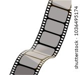 isolated film with white... | Shutterstock .eps vector #1036495174